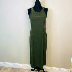 Size 6 Olive Maxi Overall Dress